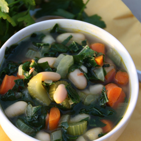 Tuscan Vegetable Soup with Kale and Cannelini Beans