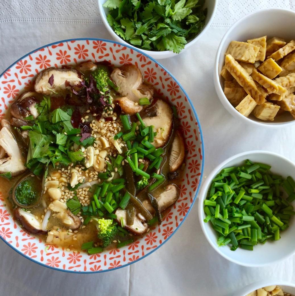 Miso soup, veggie style