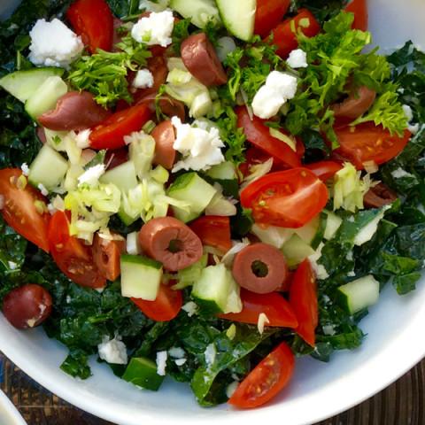 Kale Salad, Greek Style