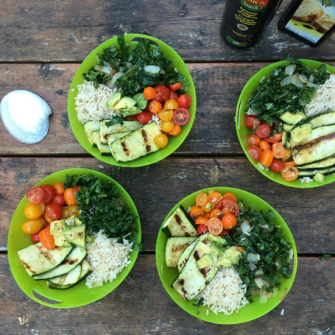 Going Camping and still making simple, healthy buddha bowls!