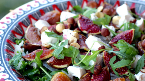 Late Summer Kale and Fig Salad
