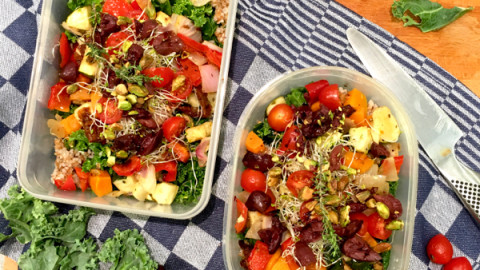 School Lunch Salad to go (quick step by step recipe)