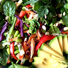 Asian Style Crudité Salad (all raw)