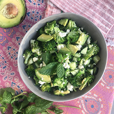 Super Green Salad with a refreshing lemon dressing